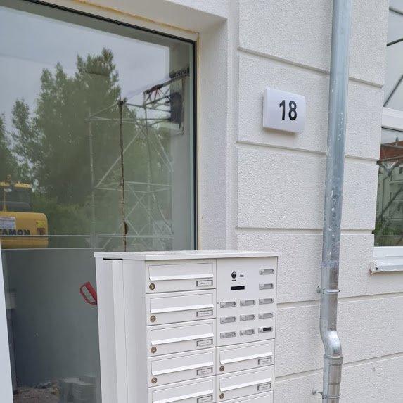 Video-Türsprechanlage-Stehend-Renz-Leabox-Mehrfamilienhaus