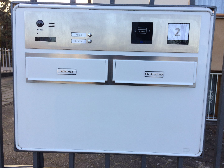 Sprechanlage-Video-Mehrfamilienhaus-Briefkasteneinbau
