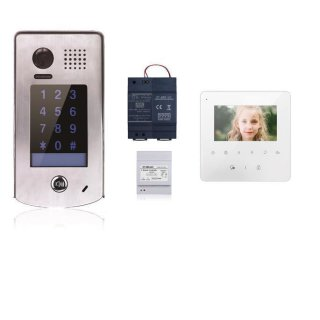 Türsprechanlage  Türklingel DT601S/KP fe 170°  2MP Kamera & MB837 Sensortasten Sprechanlagen  Monitor 1 Sprechanlagen Monitor