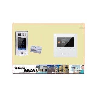 Türsprechanlage  Türklingel DT601S/KP fe 170°  2MP Kamera & MB837 Sensortasten Sprechanlagen  Monitor 4 Sprechanlagen Monitore