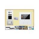 Sprechanlage DMR21/S2/ID RFID Türöffner 2 Klingeltasten einreihig  Türklingel Komplettset +   MB837 Sensortasten  Monitor 4 Monitore
