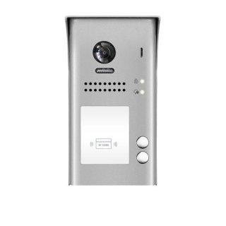DSB1207/ID/S2Video Türsprechanlage 2-Familienhaus  mit RFID Türöffner 2x Klingeltaste Aufputz