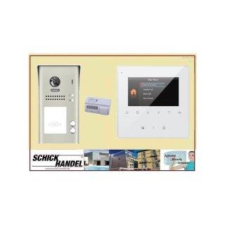 Tür Sprechanlage   SPRECHANLAGE AUFPUTZ  MEHRFAMILIENHAUS DSB1207/ID/S2 170° ULTRA-WEITWINKEL 2 MP KAMERA+ MB837 Sensortasten   SPRECHANLAGE  Monitor 4 Monitore