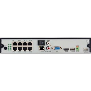 EN6283-POE Profi High Definition (HD) Netzwerk-Videorecorder, der 8-Kanal-IP-Kameras