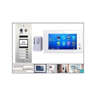 DMR21/I/S4 fe 170° Türklingel Komplettset Videospeicher  +MB87 Touchscreen m.Bild/Videospeicher Monitor