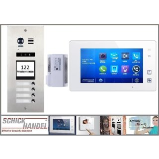 DMR21/I/S4 fe 170° Türklingel Komplettset Videospeicher  +MB87 Touchscreen m.Bild/Videospeicher Monitor 6 Monitore