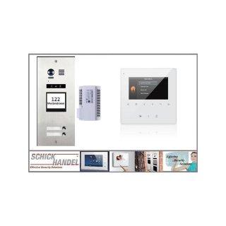 DMR21/I/S2 fe 170° Türklingel Komplettset Videospeicher  +MB837 Sensortasten 4 2 Monitore