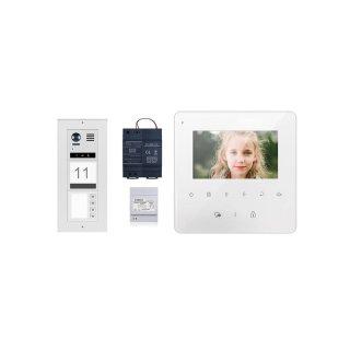 DMR21/I/S4 fe 170° Türklingel Komplettset Videospeicher  + MB837 Sensortasten 4 Monitore