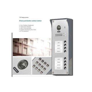 """Tür Sprechanlage für Mehrfamilienhaus 8  Wohnungen + Sprechanlagen Monitor 4,3"""" MB83 6 Monitore"""