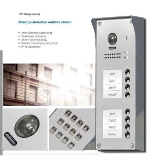 """Tür Sprechanlage für Mehrfamilienhaus 8  Wohnungen + Sprechanlagen Monitor 4,3"""" MB83 7 Monitore"""