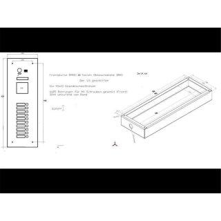 DMR21S9-12/XX  fe Modulauswahl spezial Mehrfamilienhaus Türklingel 170° PAN TILT 9-12 Tasten 10 Tasten R21/TFT
