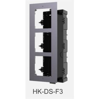 DS-KD-ACF3  Front & Unterputz Einbaurahmen 3-fach HIKVISION
