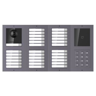 2 Draht IP Video Türklingel  HIKVISION 2 Megapixel 31 x  Klingeltaste / ID /KP/UP /2er