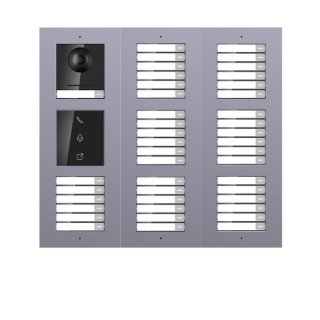 2 Draht IP Video Türklingel  HIKVISION 2 Megapixel 42 x Klingeltaste/I /AP /3er