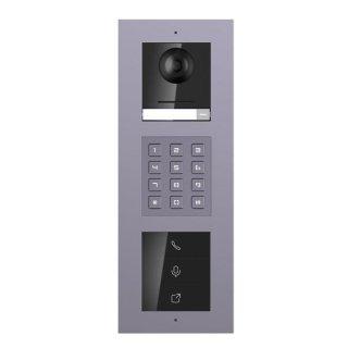 2 Draht IP Video Türklingel  HIKVISION 2 Megapixel 1x Klingeltaste KP/I  Aufputz 3er Modul Rahmen