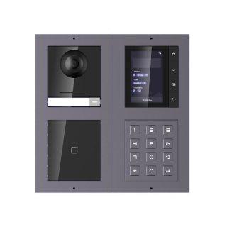 2 Draht IP Video Türklingel  HIKVISION 2 Megapixel 1x Klingeltaste /ID/KP/TFT Unterputz 2er Modul Rahmen