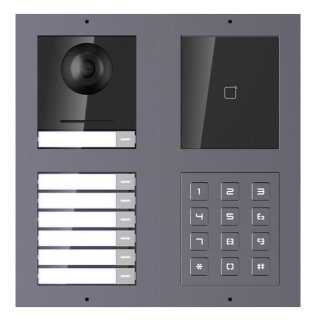 2 Draht IP Video Türklingel  HIKVISION 2 Megapixel 7 x Klingeltasten/ID/KP Unterputz