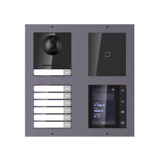 2 Draht IP Video Türklingel  HIKVISION 2 Megapixel 7 x Klingeltasten/ID/TFT Unterputz