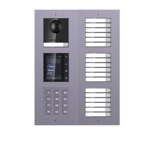 2 Draht IP Video Türklingel  HIKVISION 2 Megapixel 19 x Klingeltaste /KP/TFT Aufputz