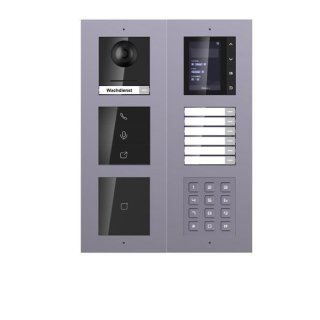 2 Draht IP Video Türklingel  HIKVISION 2 Megapixel 7 x Klingeltasten/ID/TFT/KP/I Unterputz