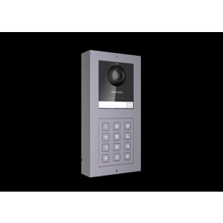 2 Draht IP Video Türklingel  HIKVISION 2 Megapixel 1x Klingeltaste /KP Aufputz