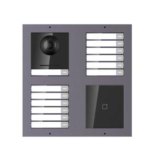 2 Draht IP Video Türklingel  HIKVISION 2 Megapixel 13 x Klingeltaste /ID /2x2er Aufputz