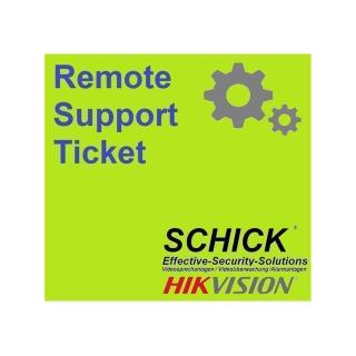 Einrichtungsservice Remote Support Ticket  für 2 Draht IP & LAN IP Sprechanlage /Videoüberwachung HIKVISION