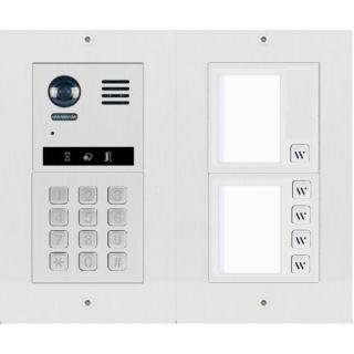 DT821 Video Türsprechanlage 5x Klingeltaste  MechanicalKeypadModul für Türöffnersteuerung und Wohnungsanwahl