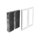 DT821 Video Türsprechanlage 9x Klingeltaste MechanicalKeypadModul f. Türöffner & Monitor Anwahl / Dot-Matrix display Modul  f. Aktionsanzeigen und RFID Karten Türöffner