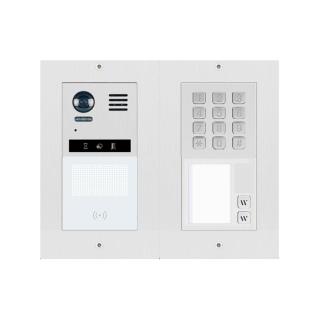 DT821 Video Türsprechanlage 2-Familienhaus  2x Klingeltaste MechanicalKeypadModul /Dot-MatrixdisplayModul mit RFID Kartenleser f. Türöffner