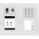 DT821 Video Türsprechanlage 2-Familienhaus  2x Klingeltaste  Mechanische Keypad f.Türöffner und Klingeln & Infomodul