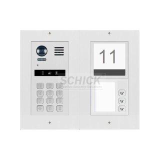 DT821 Video Türsprechanlage 3-Familienhaus  Mechanische Keypad f.Türöffner und Klingeln & Infomodul