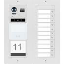 DT821 Video Türsprechanlage 11x Klingeltaste Dot-Matrix display Modul  f. Aktionsanzeigen und RFID Karten Türöffner & Info Modul