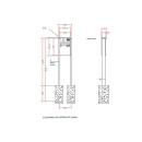 Standbriefkasten Leabox 1 Kasten & 1x Taste +...