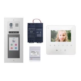 """Set m. Sprechanlagen Monitor MB837 4 3"""" Sensortouch &  DT821-T5 DT821/3x1-F/T5 m. 5"""" Glas TFT All- in-One Modul Touchscreen (Namenwahl Keypad & RFID Kartenleser ) Unterputz"""