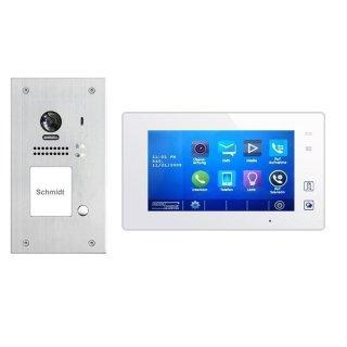"""Sprechanlagen Set DSB1207/ID/FE/S1 Türklingel Außenstation & Monitor/e MB87 7"""" Touchscreen / Bildspeicher"""