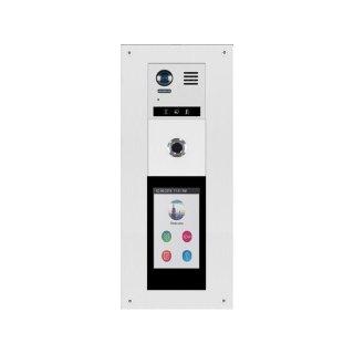 """DT821 Türsprechanlage mit Kamera   Video 2-Familienhaus  170° Kamera 2 MP & T5 mit 5"""" Glas TFT All- in-One Modul Touchscreen Modul (Code/RFID/Namenlist) FP Fingerprint für Türöffner"""