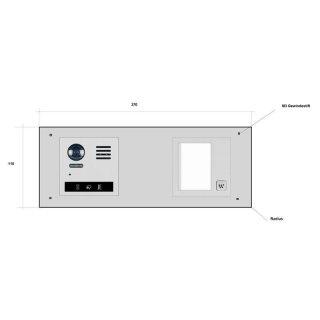 Video Sondersprechanlage BK-DT821/S1-M f. Briefkasten Renz/Leabox
