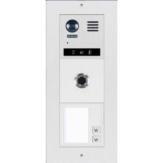 DT821/FP/S2-M-S Video Türsprechanlage 2-Familienhaus mit Fingerprint f. Türöffner  170° Kamera 2 MP & FP