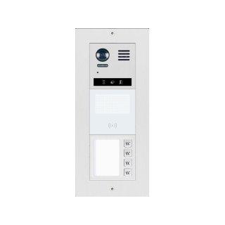 DT821/DR/M4 Video Türsprechanlage 4-Familienhaus   Dot-MatrixdisplayModul mit RFID Kartenleser f. Türöffner