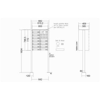 leabox/Renz  -11 Familien  Briefkasten Videosprechanlage  + 16x  MB837 Monitor